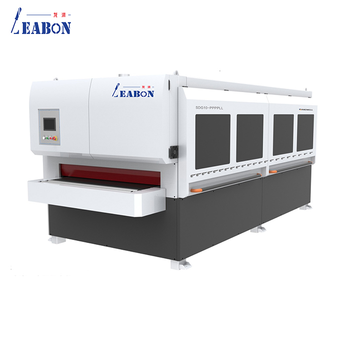 The productivity of the flat profile sander is 5-10 times higher than the manual grinding (for example: 1 worker can polish 3-6 door panels in 1 hour, and can process 50-100 pieces/hour by machine, even More